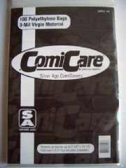 Comic Bags x100 - Silver Age Comicare Comicovers PE Polyethylene Supply 106